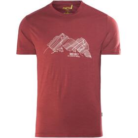 Meru Tumba - Camiseta manga corta Hombre - rojo
